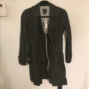 Gap Dark Grey Trench Coat, Size XS